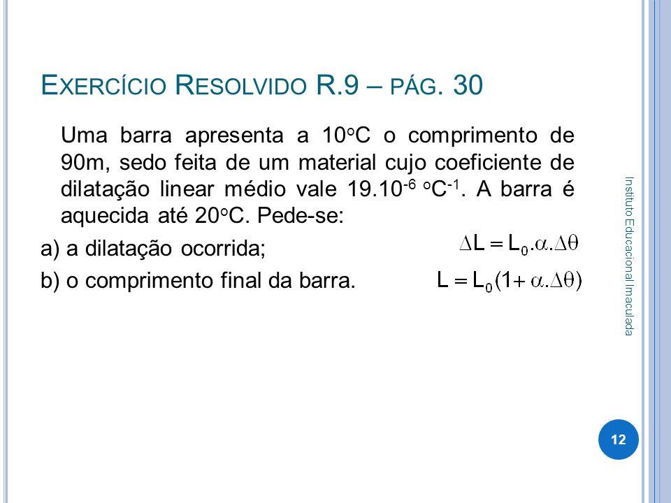 Exercício Resolvido R.9 – pág. 30