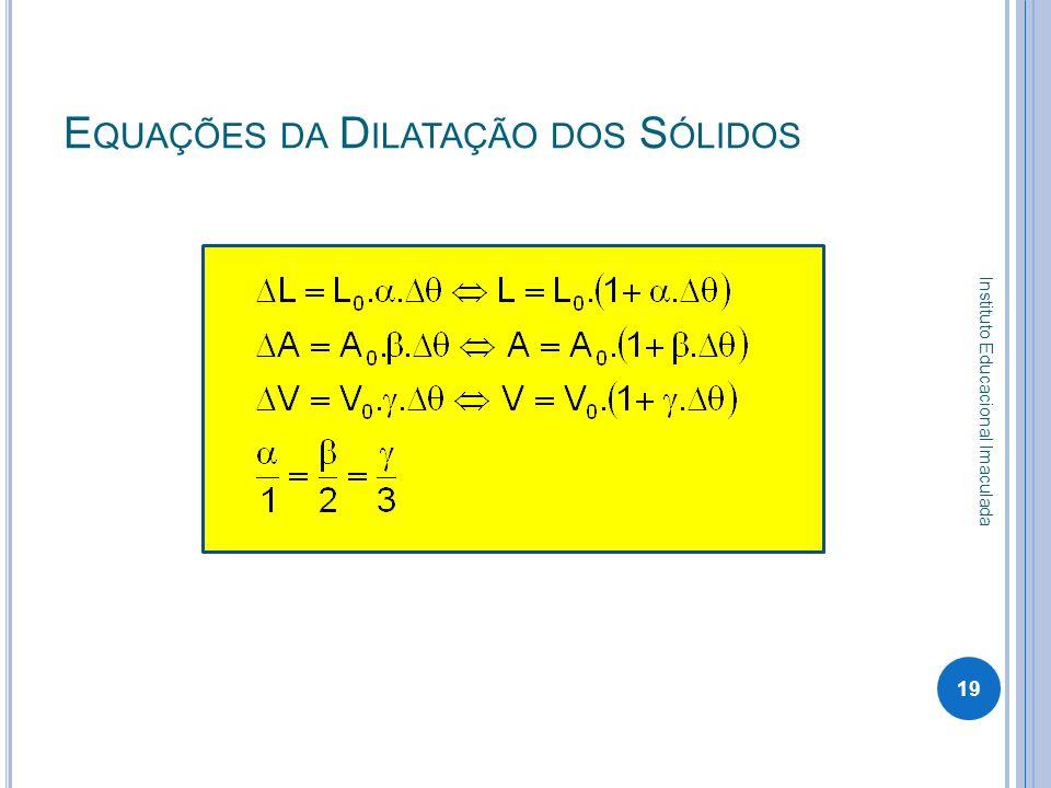 Equações da Dilatação dos Sólidos