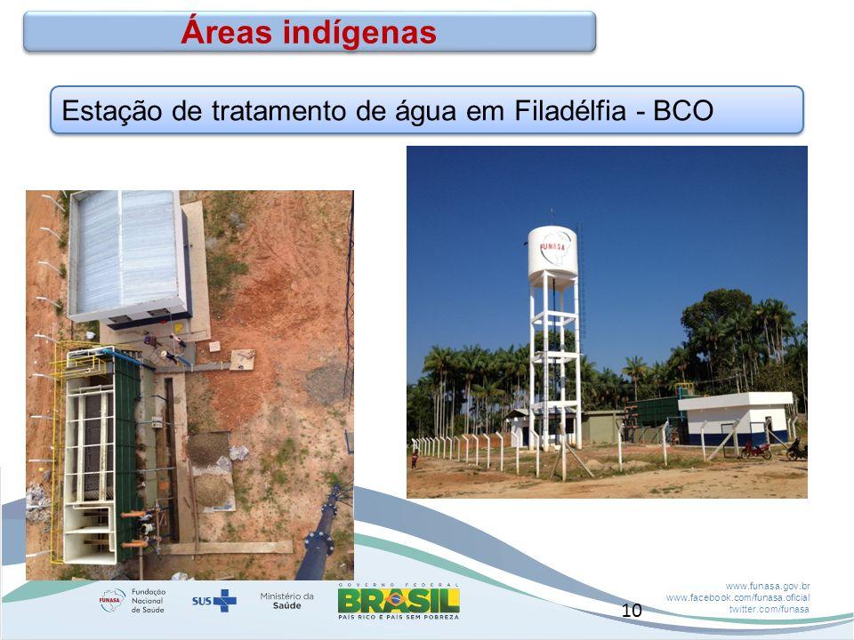 Áreas indígenas Estação de tratamento de água em Filadélfia - BCO 10