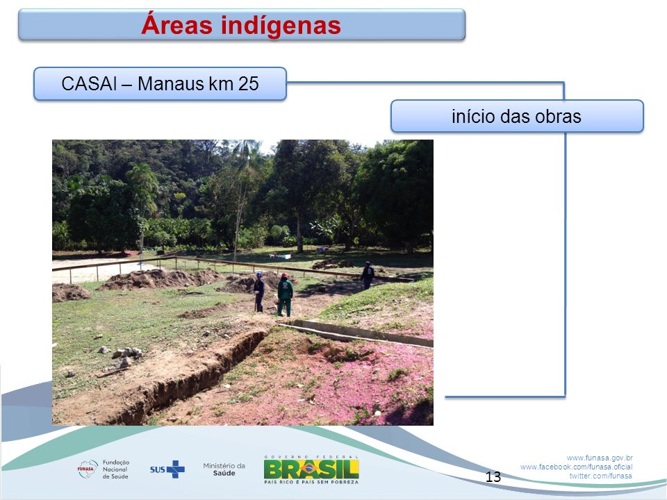 Áreas indígenas CASAI – Manaus km 25 início das obras 13