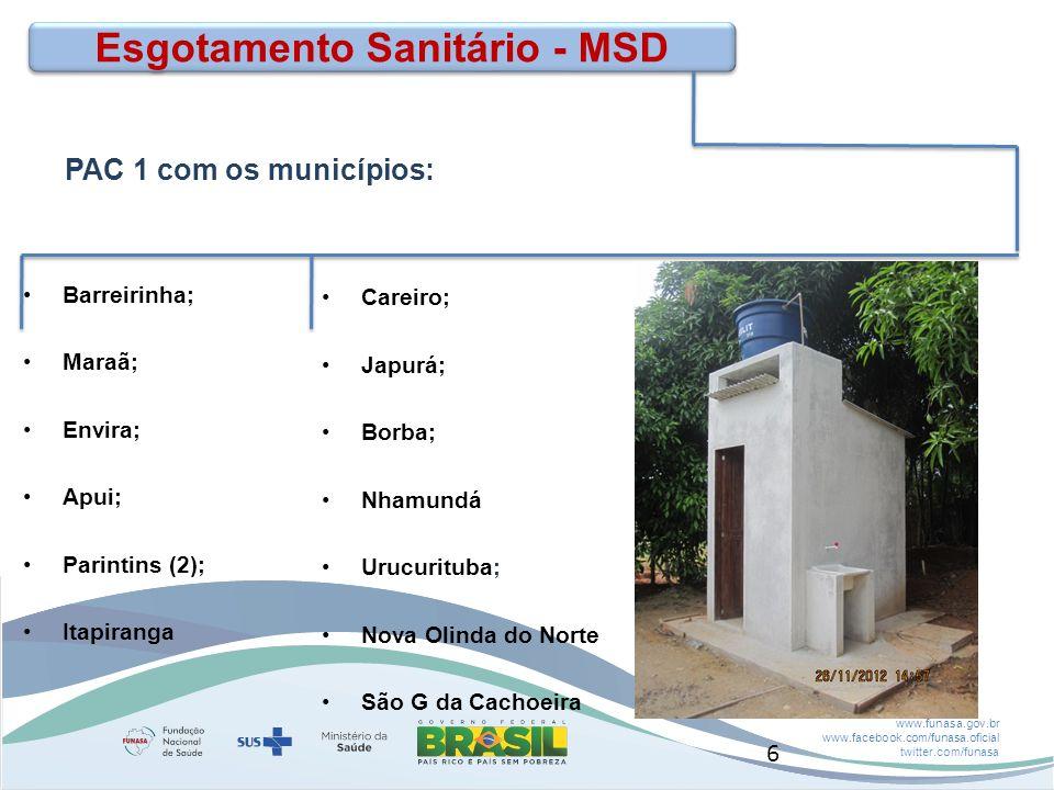 Esgotamento Sanitário - MSD