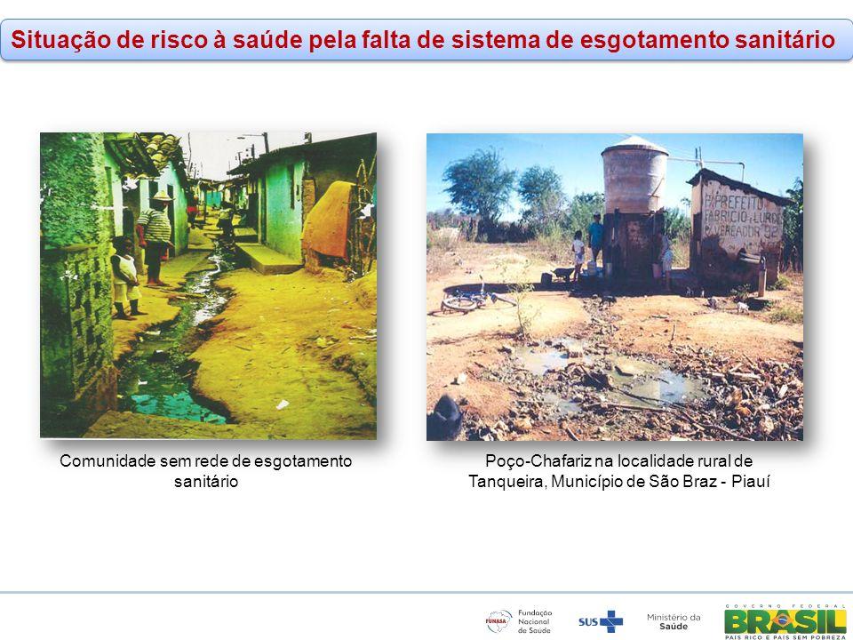Comunidade sem rede de esgotamento sanitário