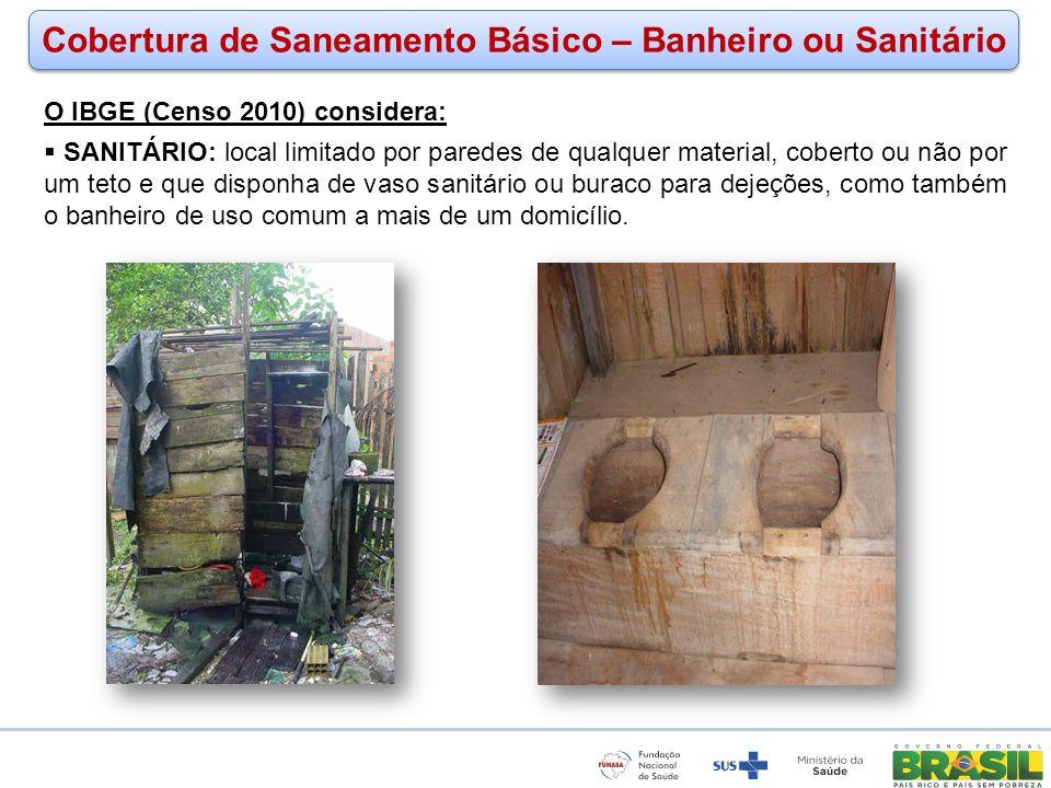 Cobertura de Saneamento Básico – Banheiro ou Sanitário