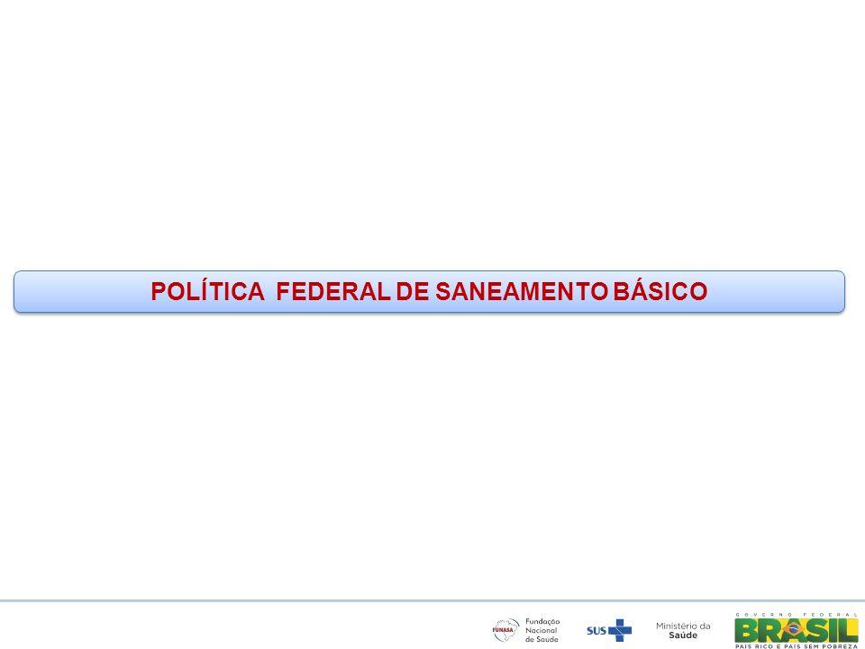 POLÍTICA FEDERAL DE SANEAMENTO BÁSICO