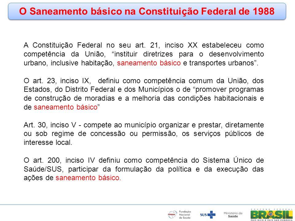 O Saneamento básico na Constituição Federal de 1988