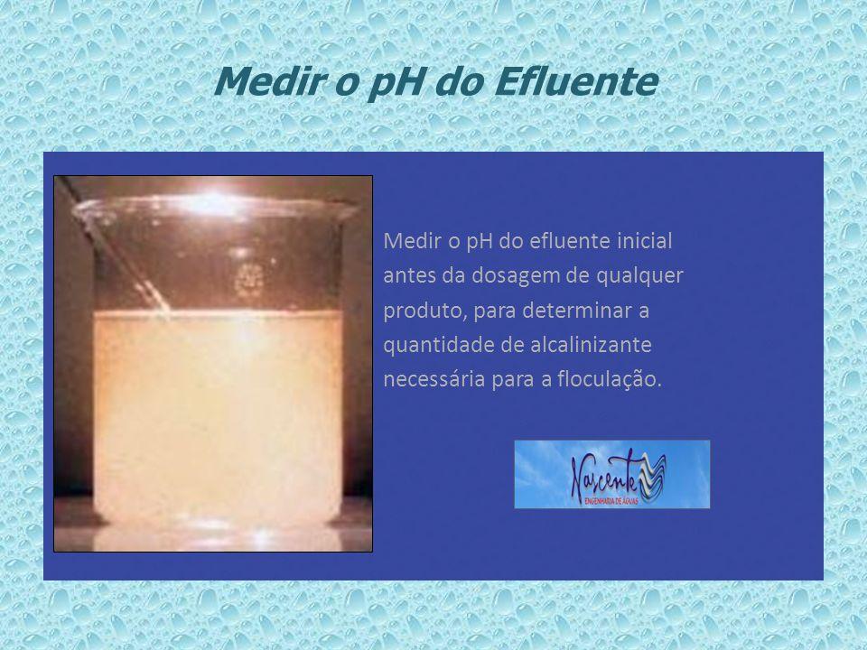 Medir o pH do Efluente