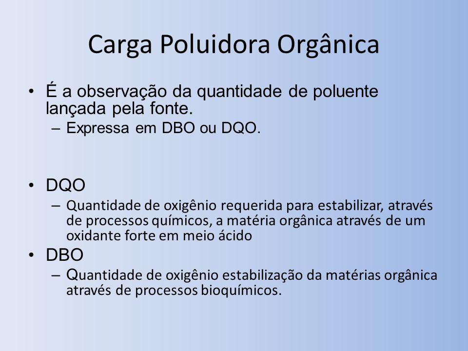 Carga Poluidora Orgânica