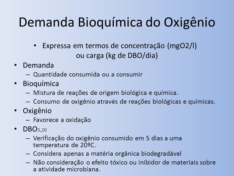 Demanda Bioquímica do Oxigênio