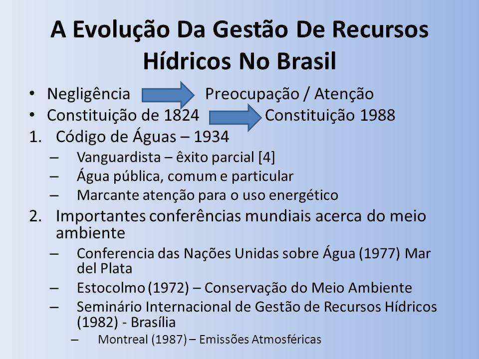 A Evolução Da Gestão De Recursos Hídricos No Brasil