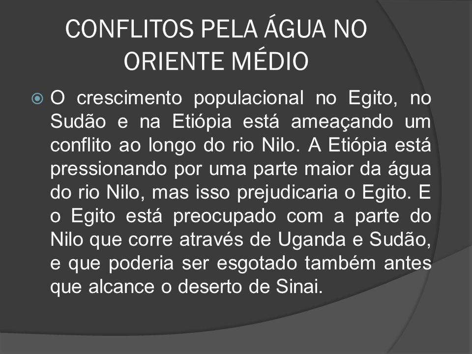 CONFLITOS PELA ÁGUA NO ORIENTE MÉDIO