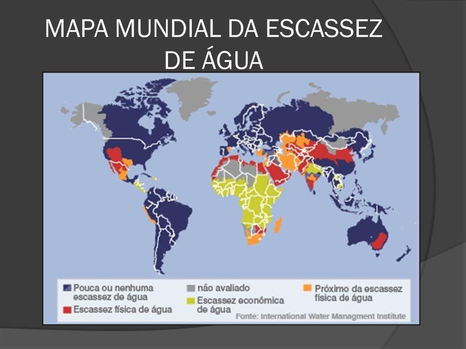 MAPA MUNDIAL DA ESCASSEZ DE ÁGUA