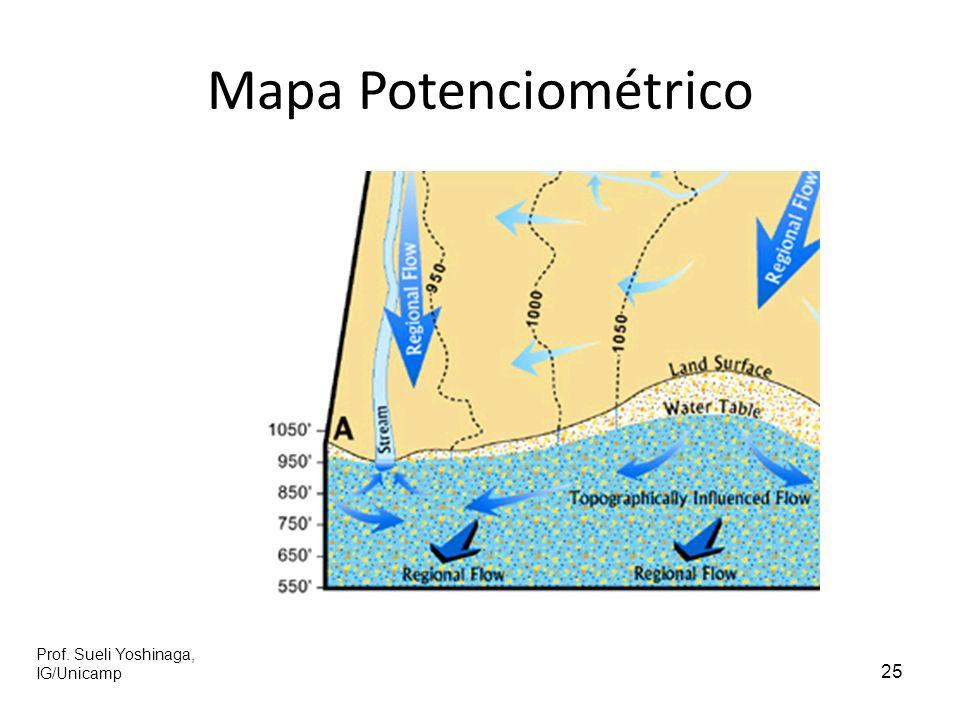 Mapa Potenciométrico Prof. Sueli Yoshinaga, IG/Unicamp 25 25
