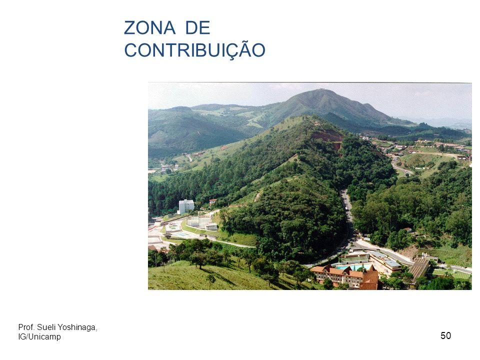 ZONA DE CONTRIBUIÇÃO Prof. Sueli Yoshinaga, IG/Unicamp 50 50