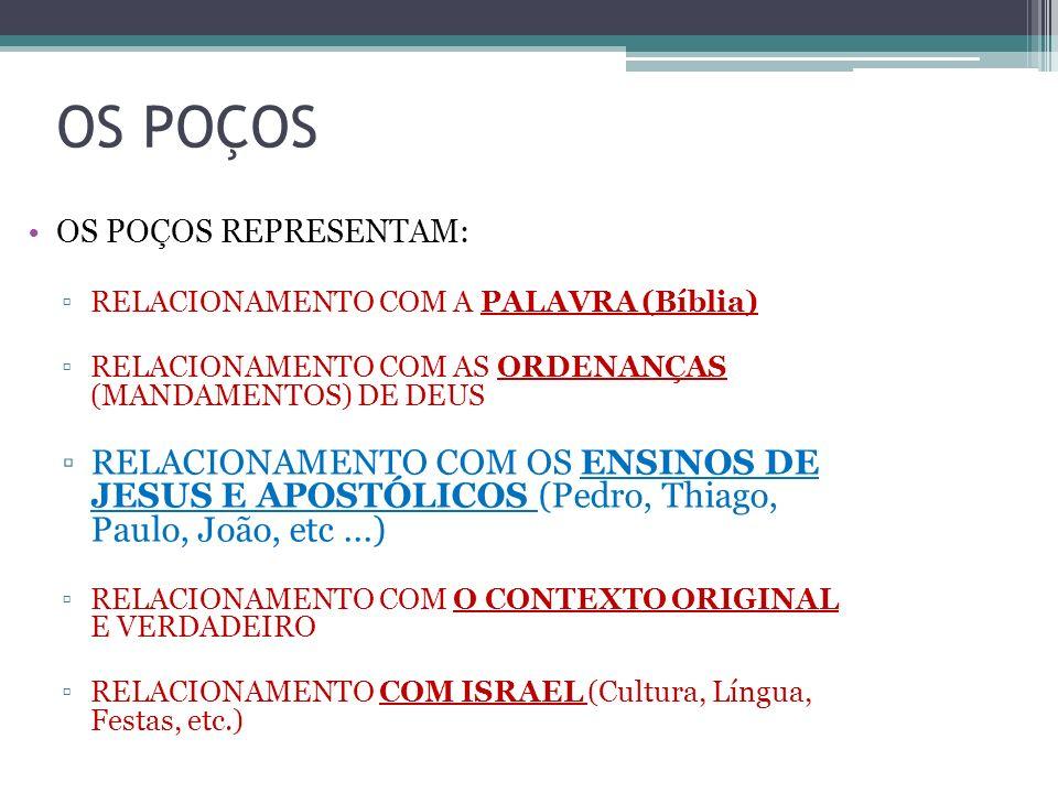OS POÇOS OS POÇOS REPRESENTAM: RELACIONAMENTO COM A PALAVRA (Bíblia) RELACIONAMENTO COM AS ORDENANÇAS (MANDAMENTOS) DE DEUS.