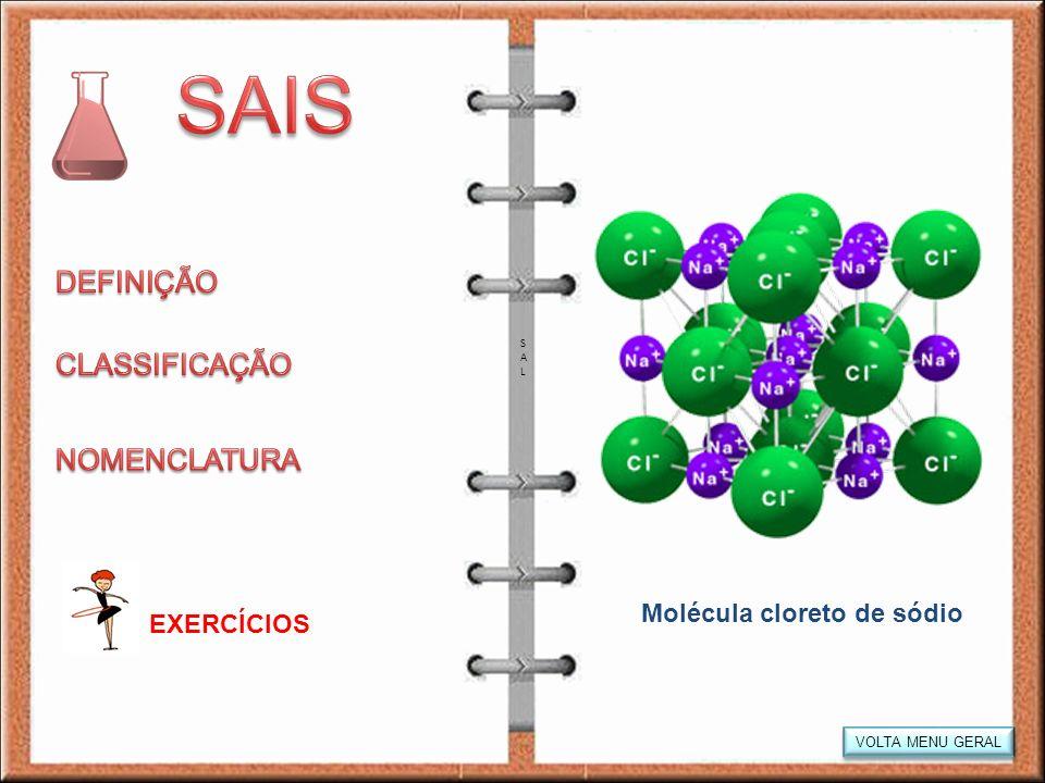 Molécula cloreto de sódio