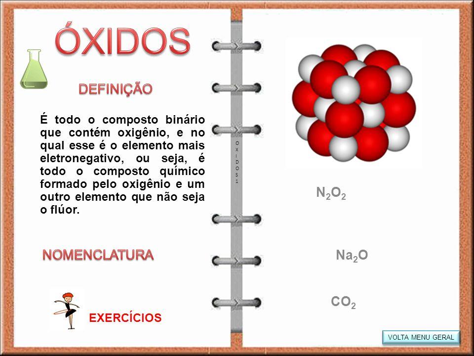 ÓXIDOS DEFINIÇÃO N2O2 NOMENCLATURA Na2O CO2