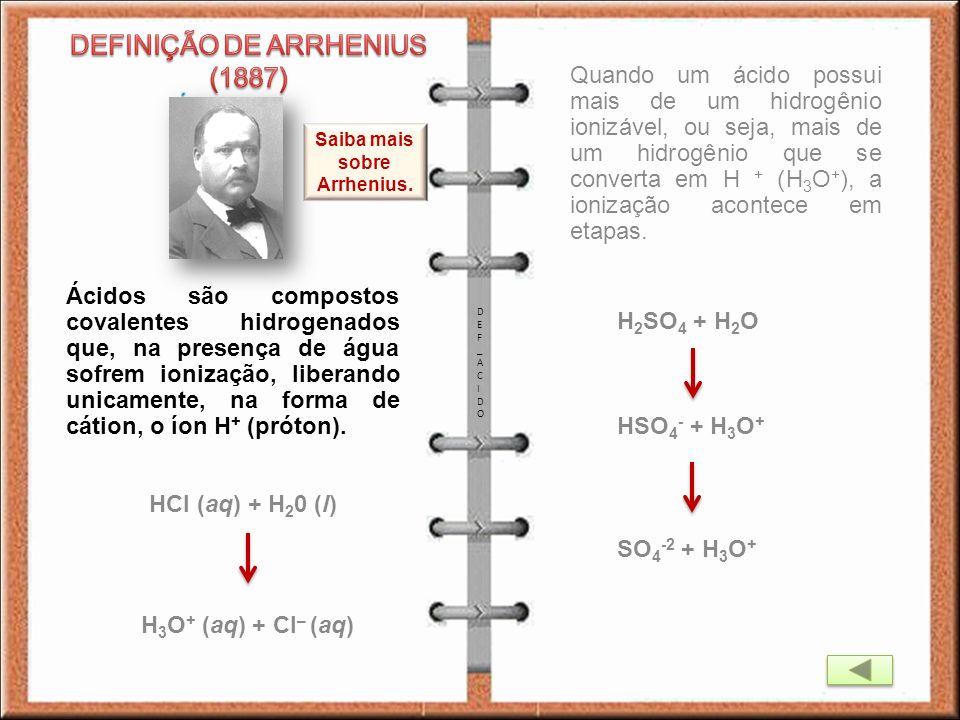 Saiba mais sobre Arrhenius.