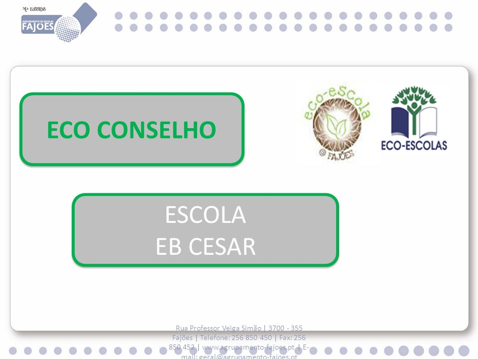 ECO CONSELHO ESCOLA EB CESAR