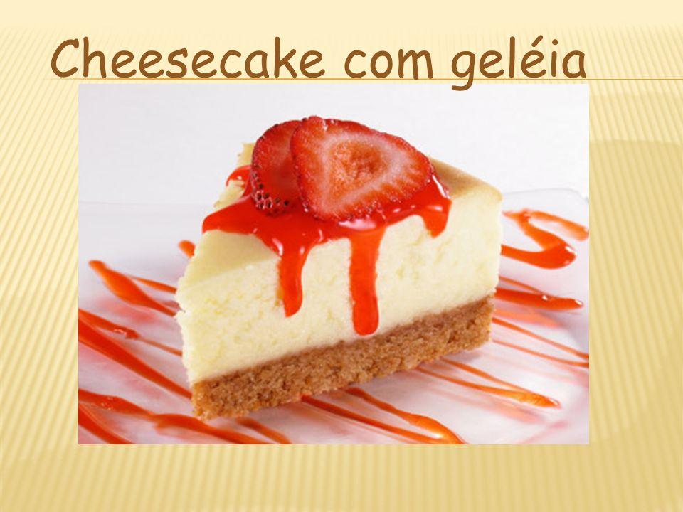 Cheesecake com geléia