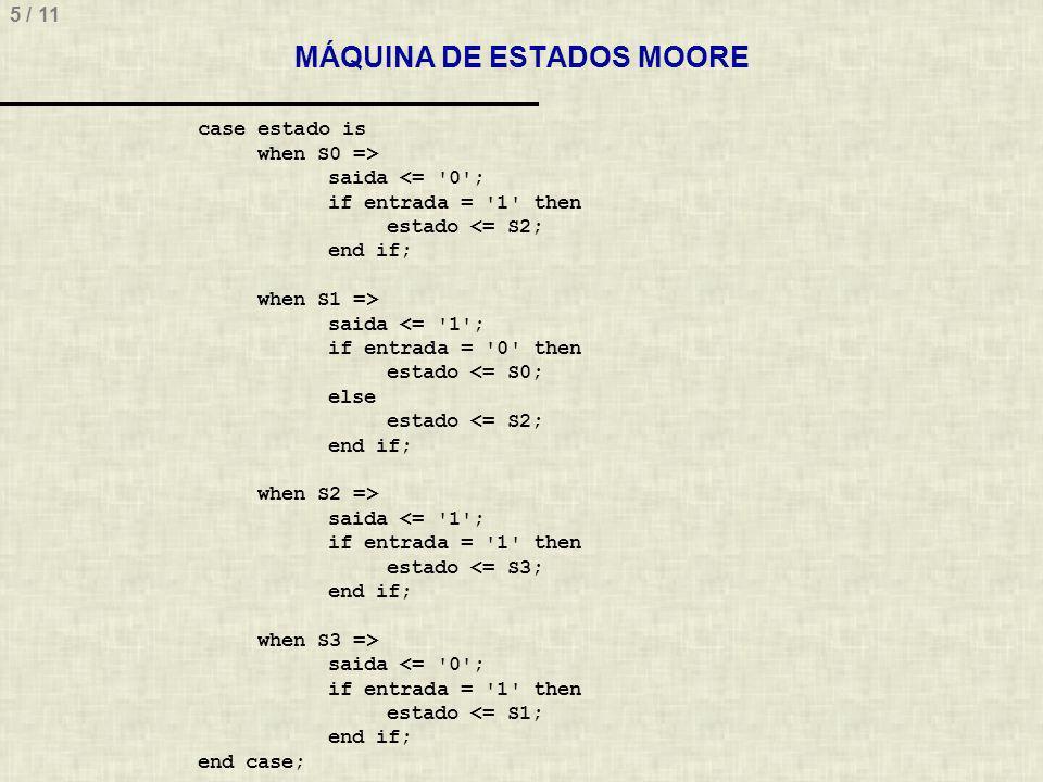 MÁQUINA DE ESTADOS MOORE