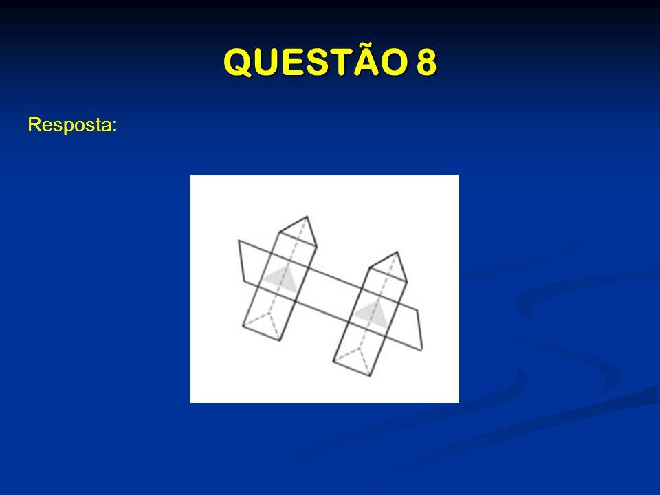QUESTÃO 8 Resposta: