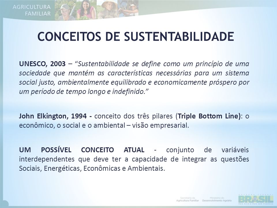 CONCEITOS DE SUSTENTABILIDADE