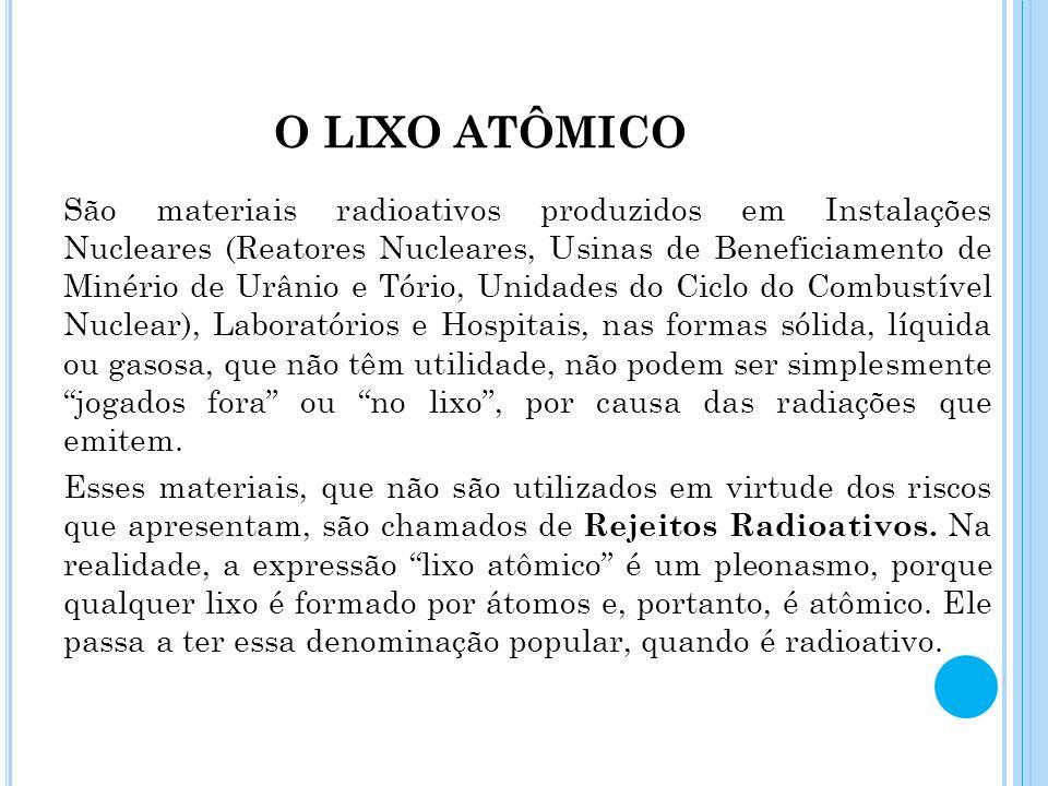 O LIXO ATÔMICO