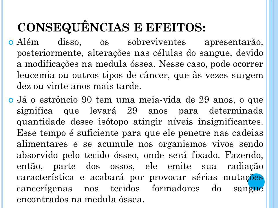 CONSEQUÊNCIAS E EFEITOS: