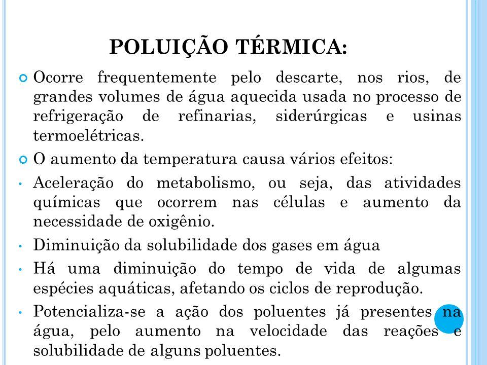 POLUIÇÃO TÉRMICA: