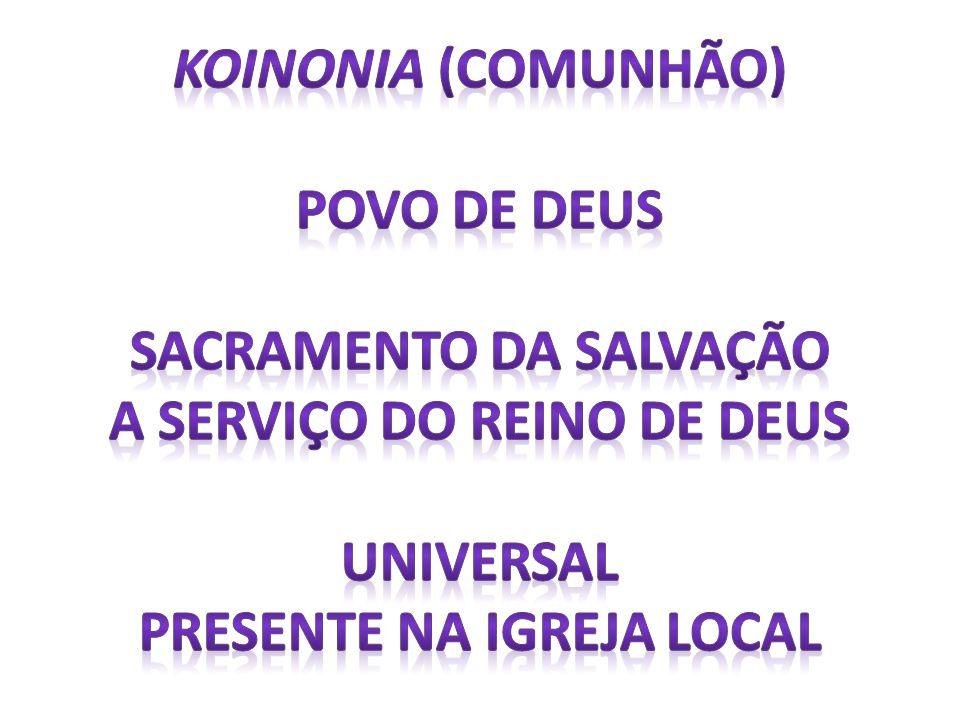 SACRAMENTO DA SALVAÇÃO A SERVIÇO DO REINO DE DEUS UNIVERSAL