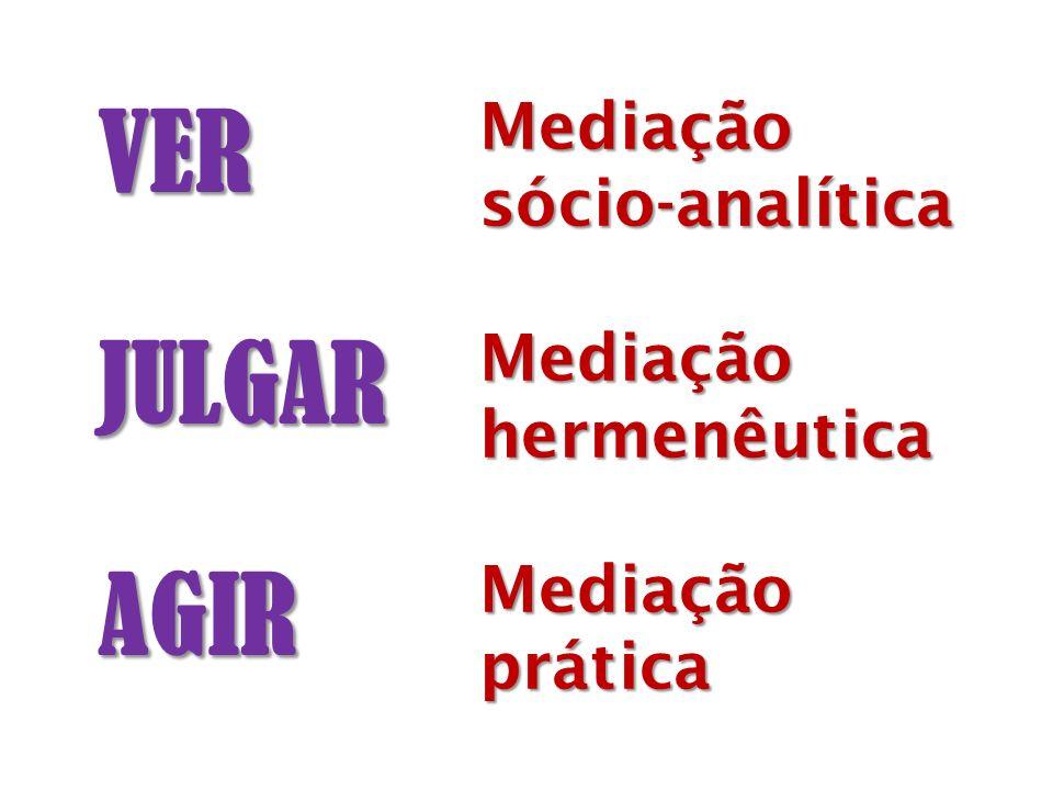 VER JULGAR AGIR Mediação sócio-analítica hermenêutica prática