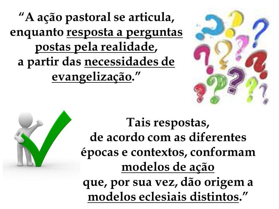 A ação pastoral se articula, enquanto resposta a perguntas