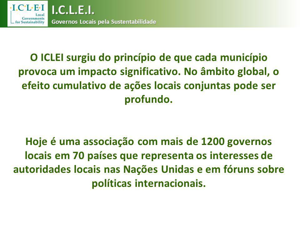 I.C.L.E.I. Governos Locais pela Sustentabilidade.