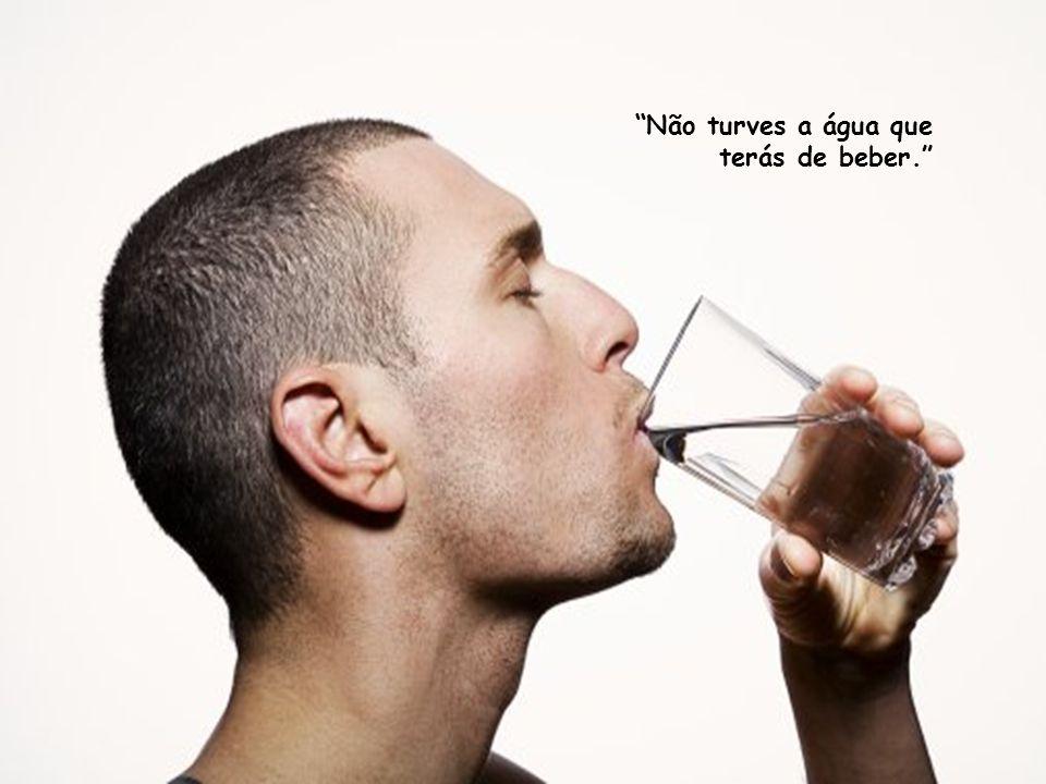 Não turves a água que terás de beber.