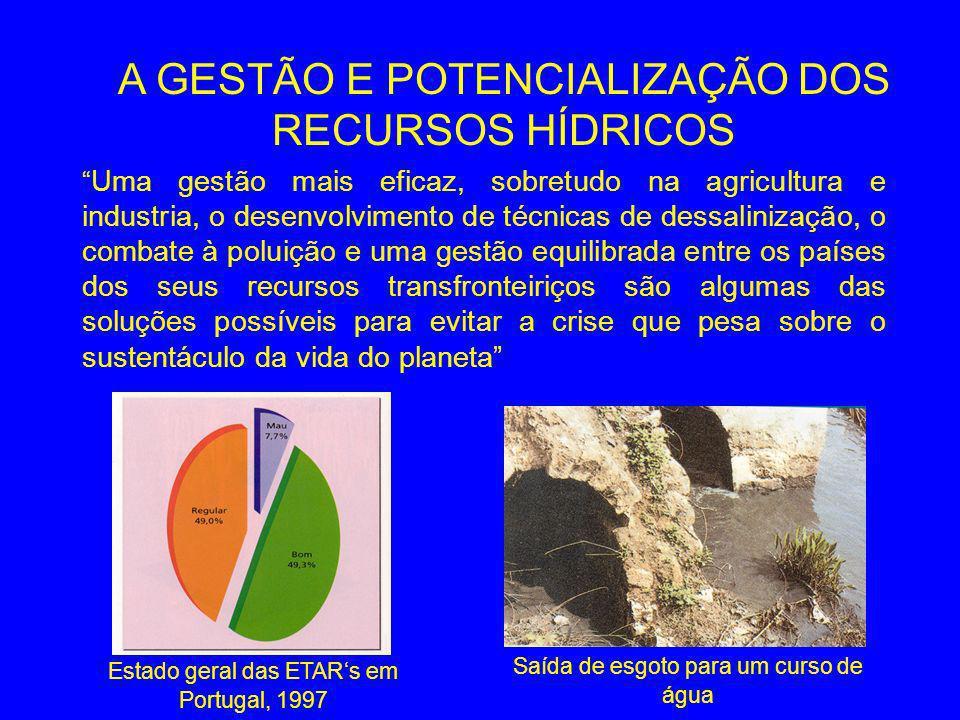 A GESTÃO E POTENCIALIZAÇÃO DOS RECURSOS HÍDRICOS