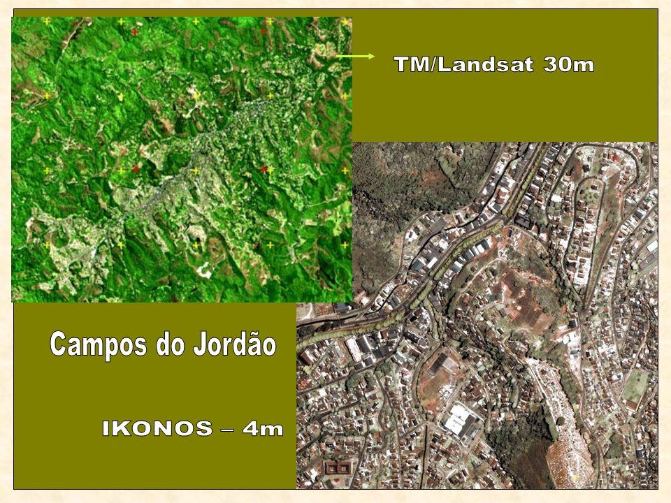 TM/Landsat 30m Campos do Jordão IKONOS – 4m