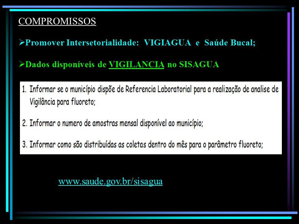 COMPROMISSOS www.saude.gov.br/sisagua