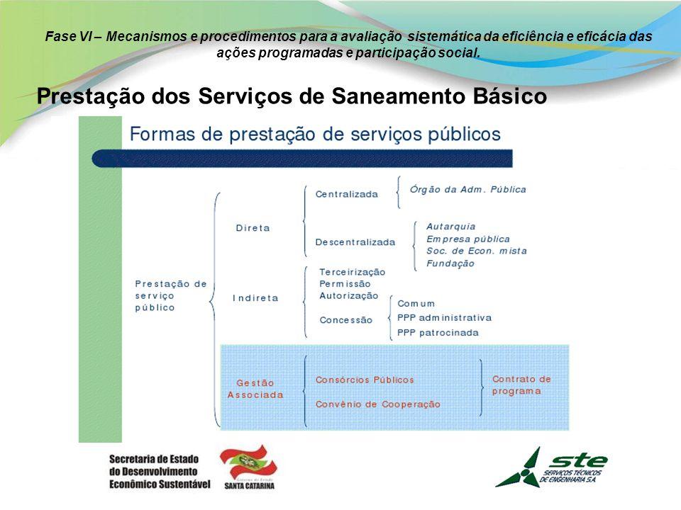 Prestação dos Serviços de Saneamento Básico
