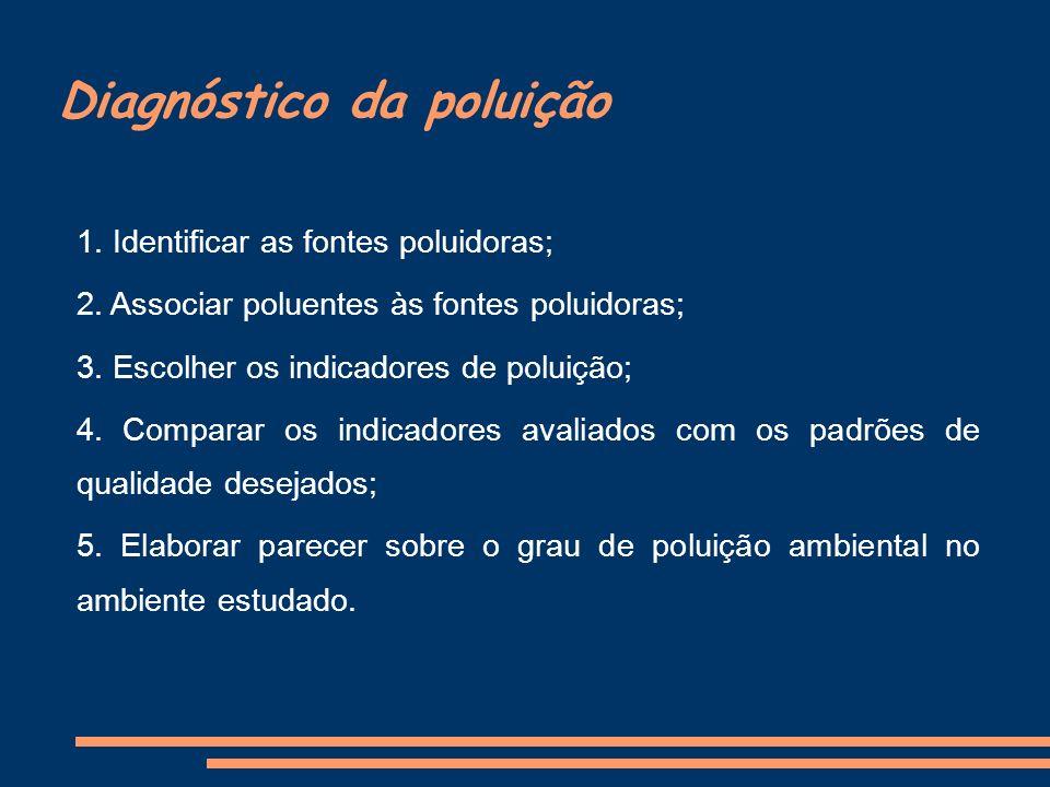 Diagnóstico da poluição