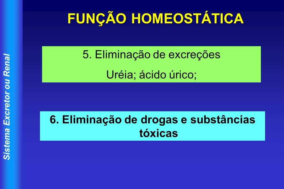 6. Eliminação de drogas e substâncias tóxicas