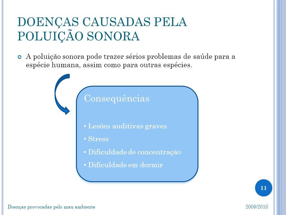 DOENÇAS CAUSADAS PELA POLUIÇÃO SONORA