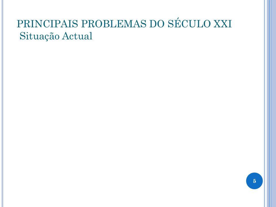 PRINCIPAIS PROBLEMAS DO SÉCULO XXI Situação Actual