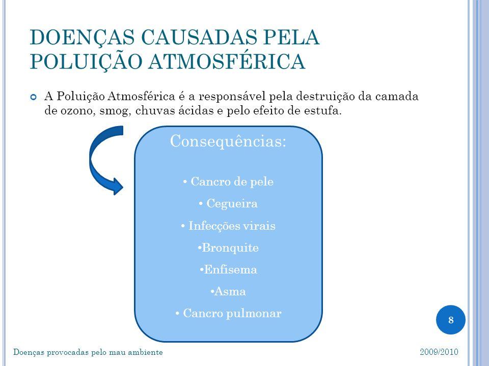 DOENÇAS CAUSADAS PELA POLUIÇÃO ATMOSFÉRICA