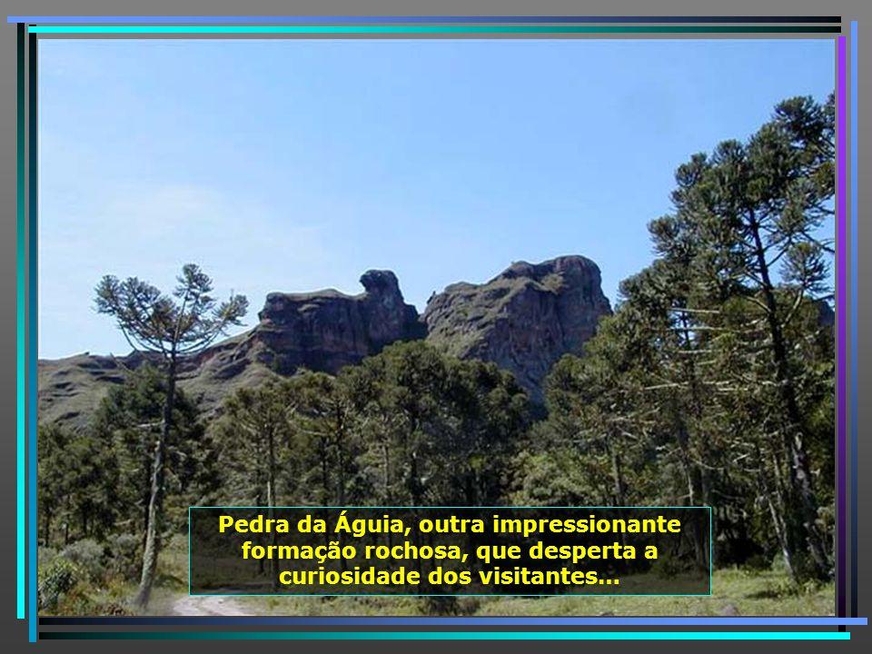 Pedra da Águia, outra impressionante formação rochosa, que desperta a curiosidade dos visitantes…