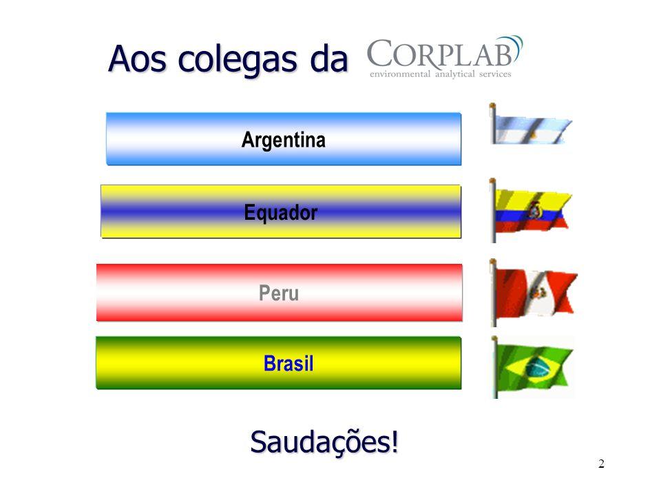 Aos colegas da Argentina Equador Peru Brasil Saudações!