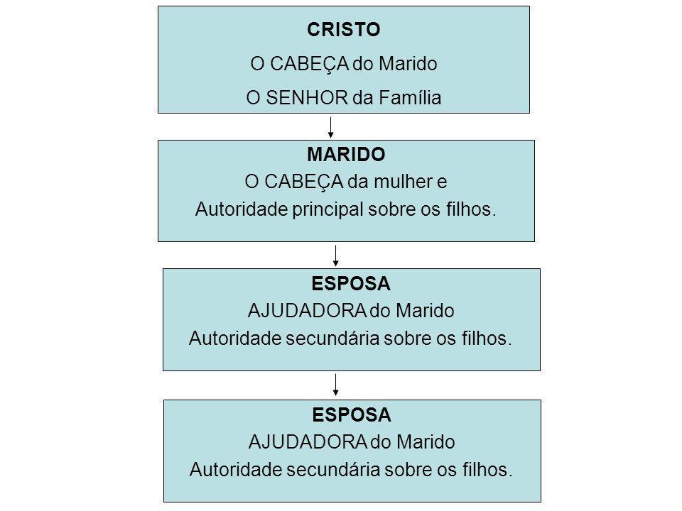 MARIDO O CABEÇA da mulher e Autoridade principal sobre os filhos.