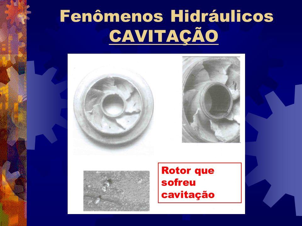Fenômenos Hidráulicos CAVITAÇÃO