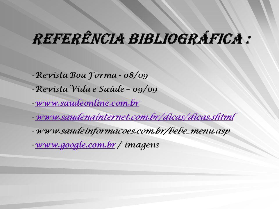 REFERÊNCIA BIBLIOGRÁFICA :