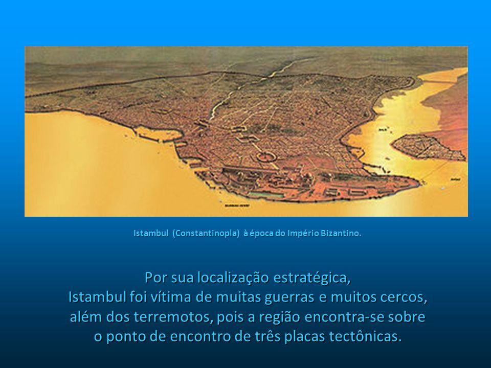 Istambul (Constantinopla) à época do Império Bizantino.