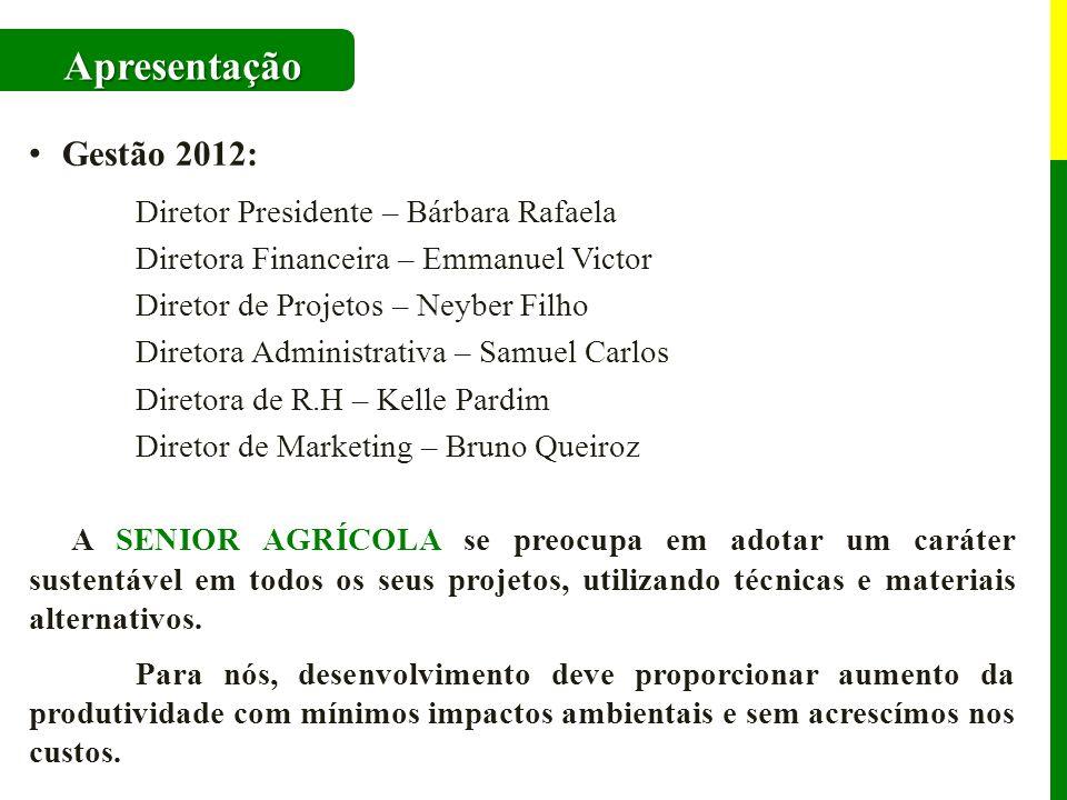 Apresentação Gestão 2012: Diretor Presidente – Bárbara Rafaela
